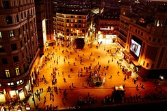 Callao Square at night