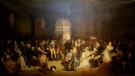Appeal of the last victims of terror in the prison of St. Lazarus.7, 9 Thermidor 1794 by Charles Louis Müller, (Musée de la Révolution française).
