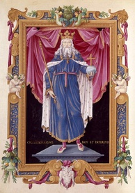 Later depiction of Charlemagne in the Bibliothèque Nationale de France