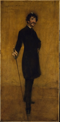 Whistler by William Merritt Chase, 1885.