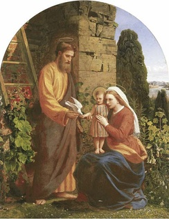 James Collinson was a convert and Pre-Raphaelite. This is his 1878 depiction of the Holy Family.