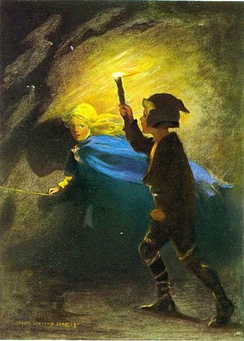 Illustration from 1920 edition of George MacDonald's novel The Princess and the Goblin