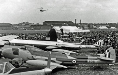 A Venom NF.2 at the 1952 Farnborough Airshow
