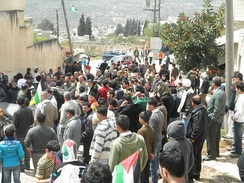Demonstration against road block, Kafr Qaddum, March 2012