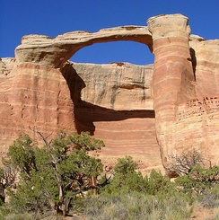 Rim Arch in the Black Ridge Canyons Wilderness in western Colorado