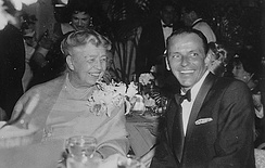 Roosevelt with Frank Sinatra in 1960