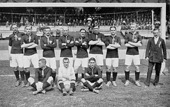 The Hungarian national team at the 1912 Summer Olympics