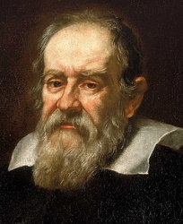 Galileo Galilei, discoverer of the four largest moons of Jupiter, now known as Galilean moons
