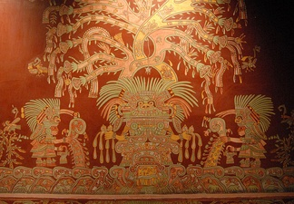 A mural showing what has been identified as the Great Goddess of Teotihuacan