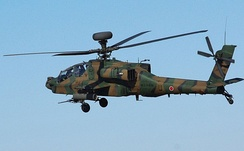 A Fuji Heavy Industries licensed built Apache for the Japanese GSDF