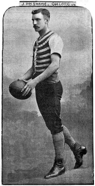 Club attire in 1895 (Jim McShane pictured)