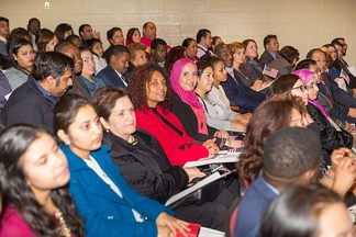 Naturalization ceremony at the Oakton High School in Virginia, December 2015.