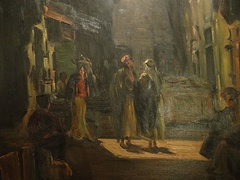 Bazaar in the Old City, by Ludwig Blum, 1944