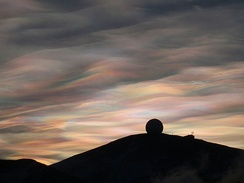Stratospheric nacreous clouds over Antarctica