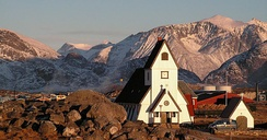 Most Greenlandic villages, including Nanortalik, have their own church.
