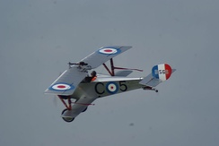 Replica of Billy Bishop's Nieuport 23.