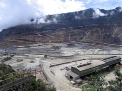 The Ok Tedi Mine in southwestern Papua New Guinea