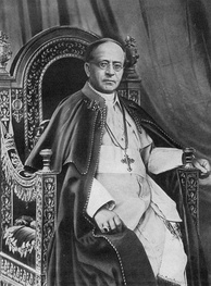 "Pope Pius XI issued the anti-Nazi encyclical ""Mit brennender Sorge"" in 1937. It was in part drafted by his successor pontiff, Cardinal Pacelli (Pius XII)."