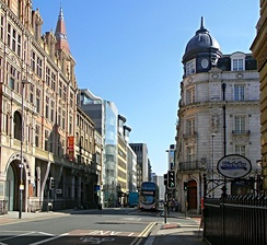 Park Row in Leeds's Central Business District