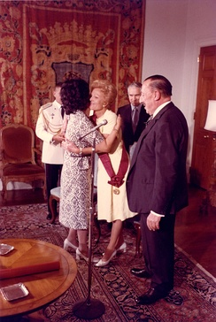 Pat Nixon was awarded the Grand Cross of the Order of the Sun in 1971 by the government of Peru, becoming the first Western woman to earn the distinction.
