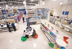 Australia's Officeworks is a category killer, retailing everything for the home office or small commercial office; stationery, furniture, electronics, communications devices, copying, printing and photography services, coffee, tea and light snacks