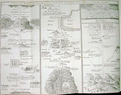 A map of the places Pilgrim travels through on his progress; a fold-out map from an edition printed in England in 1778