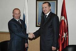 Владимир Путин и Реджеп Тайип Эрдоган, 6 декабря 2004 г.