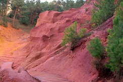 Ochre path in Roussillon.