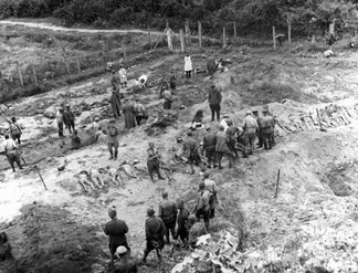 1944: The Soviet Extraordinary State Commission researches the crimes of German Nazis at Janowska concentration camp and mass graves adjoining the camp.