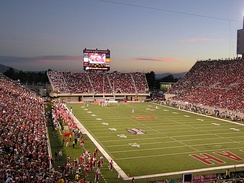 Rice-Eccles Stadium during a football game