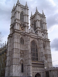 Westminster Abbey. A World Heritage Site and location of the coronation of British monarchs.