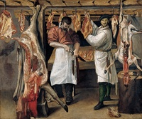 Annibale Carracci, The Butcher's Shop, 1580