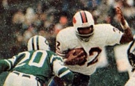 Simpson breaking the NFL's single-season rushing record in 1973