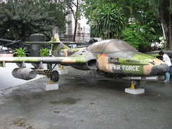 A-37, AF Ser. No. 70-1285, in Ho Chi Minh City at the Vietnam Military History Museum; this is a former VNAF aircraft with inaccurate USAF markings reapplied