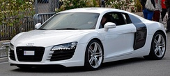 The Audi R8 uses Audi Space Frame technology