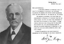 The Balfour Declaration which supported the establishment of a Jewish homeland in Palestine and protected the civil and religious rights of existing non-Jewish communities.