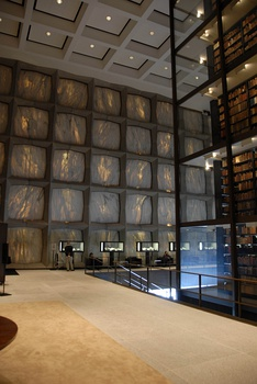 Interior of Beinecke Library
