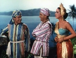 Bob Hope, Bing Crosby and Dorothy Lamour in Road to Bali (1952)