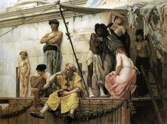 Gustave Boulanger's painting The Slave Market