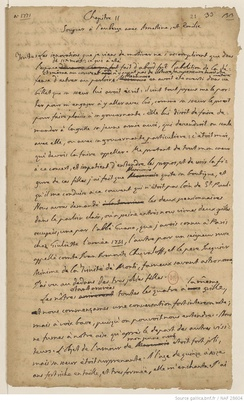 Page from the autograph manuscript of Histoire de ma vie