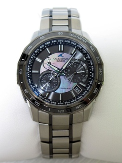 A modern wristwatch featuring solar charging and atomic time reception capabilities