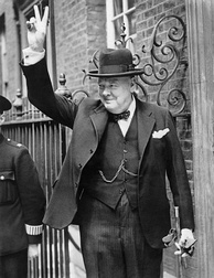 Sir Winston Churchill, twice Prime Minister of the United Kingdom