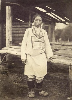 Chuvash woman from Ulyanovsk Oblast, mid-to-late 19th century.