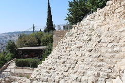 Stepped Stone Structure in Ophel/City of David, the oldest part of Jerusalem