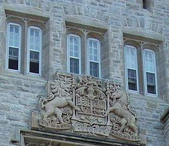 Arms of Canada on Currie Hall, Royal Military College of Canada