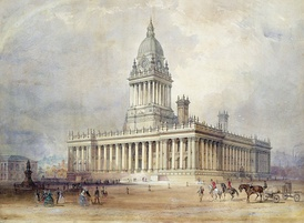 A painting of the Town Hall as planned