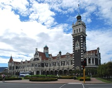 Dunedin Railway Station, in Dunedin, New Zealand, is one of the country's most famous historic buildings.[43]