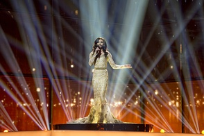 Conchita performing at Eurovision Song Contest 2014