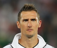 Miroslav Klose scored a record 16 goals across four World Cups.