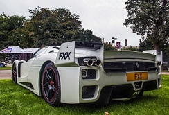 A Ferrari FXX converted for road use